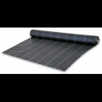 Геотекстиль тканный Agrojutex, плотность 100г/м.кв, размер 1,05х50м, цвет - чёрный, Чехия