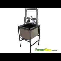 Механизм для обрезки сот вертикальный с бункером (паровой)