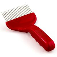 Вилка для распечатки, пластик+нерж, красная