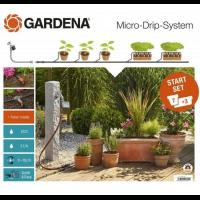 Комплект микрокапельного полива Micro-Drip-System базовый с таймером Flex - Gardena