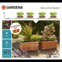 Комплект для расширения микрокапельного полива Micro-Drip-System на 4 цветочных ящика - Gardena
