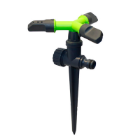 Ороситель вращающийся green с тремя рожками на ножке