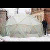 """Теплица купольная """"Солнечная"""", диаметр 5м, высота 2,5м, площадь 18м.кв., без реек + пленка 120мкм"""