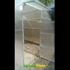 Теплица термос из оцинкованого квадратного профиля 30х30мм под поликарбонат - 3x6x2 - двери
