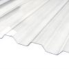 Профилированный монолитный поликарбонат Borrex 0,8 мм, размер листа 1050х6000 мм, прозрачный